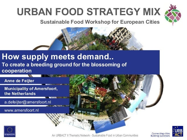 URBAN FOOD STRATEGY MIX Sustainable Food Workshop for European Cities  How supply meets demand.. To create a breeding grou...