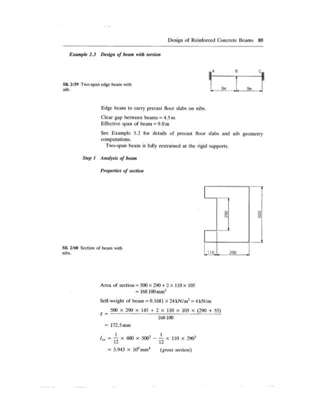 reinforced concrete beam design example pdf