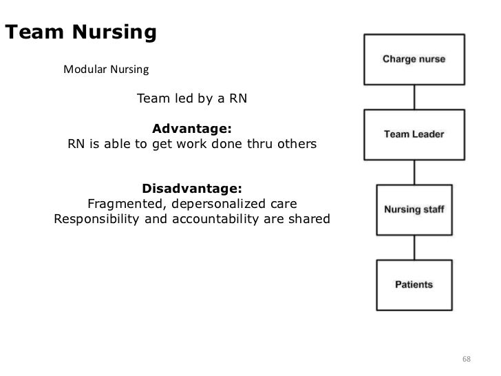 disadvantage of team nursing Disadvantages of a nursing career while nursing does offer many advantages, there are disadvantages as well nursing is not easy, and can be very physically demanding.