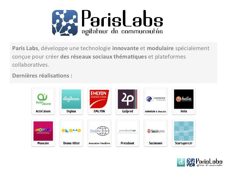 Paris Labs, développe une technologie innovante et modulaire spécialement conçue pour créer des ...