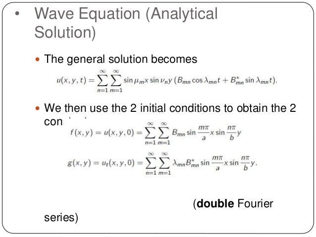 Wave Equation Solution