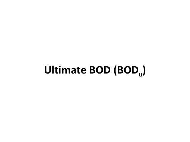 Ultimate BOD (BODu)