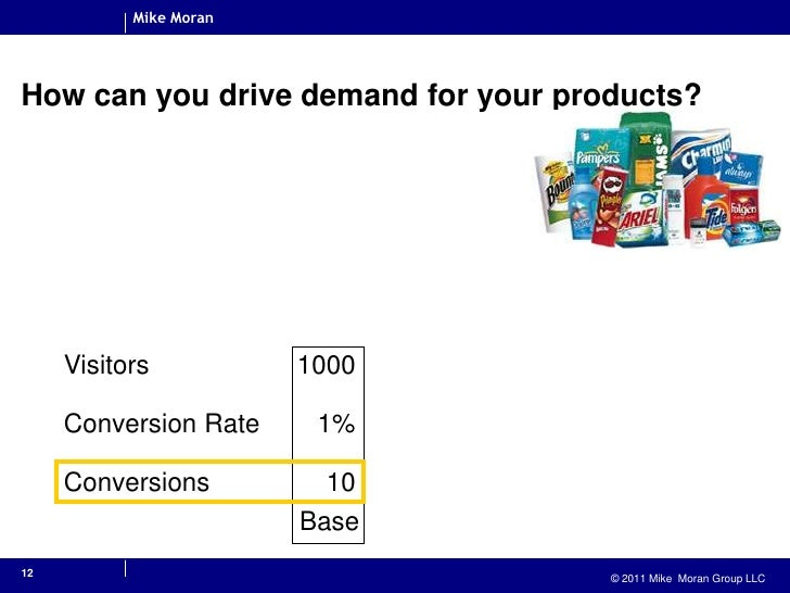 12<br />How can you drive demand for your products?<br />Base<br />