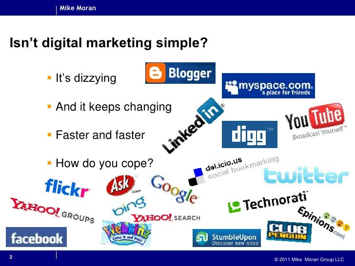 2<br />Isn't digital marketing simple?<br />It's dizzying<br />And it keeps changing<br />Faster and faster<br />How do yo...