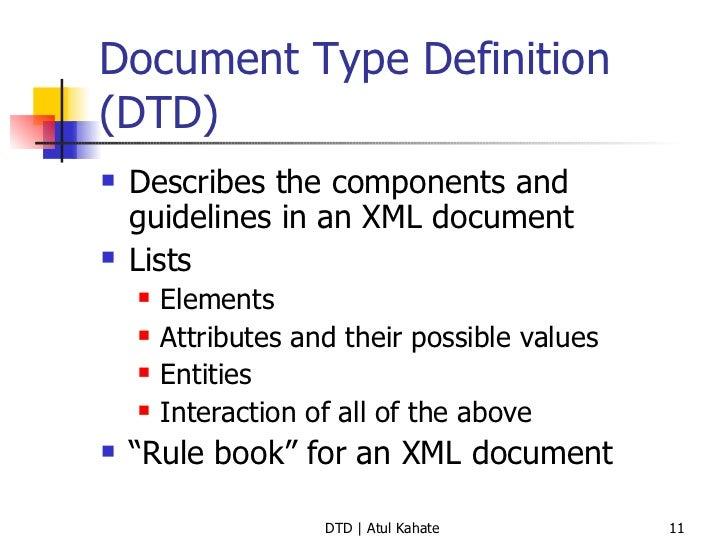 2 Dtd Validating Xml Documents