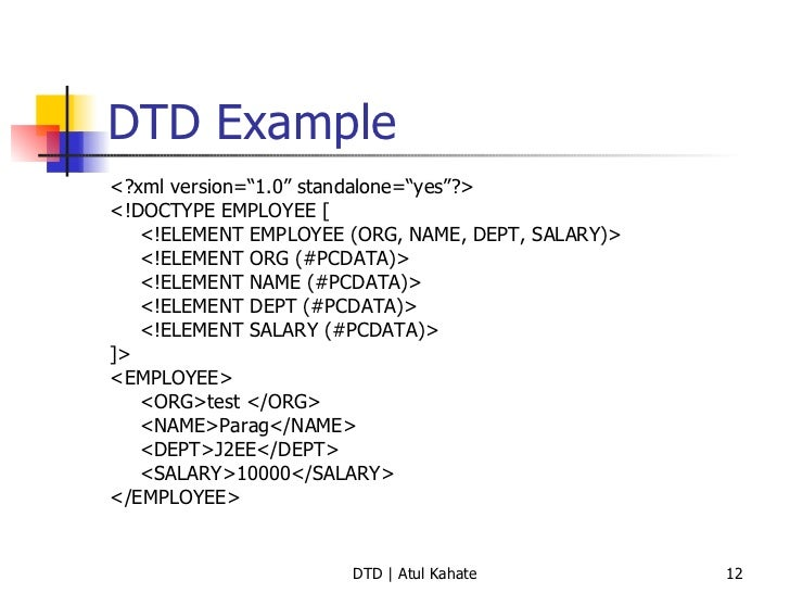 Validating xml with dtd