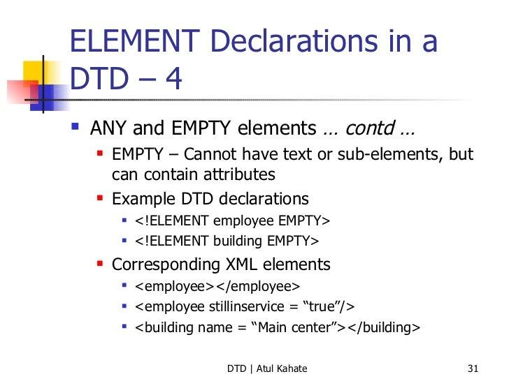 2 dtd validating xml documents element declarations urtaz Image collections