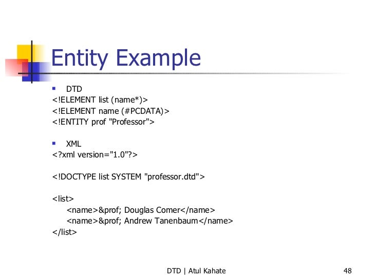 Validating xml documents examples