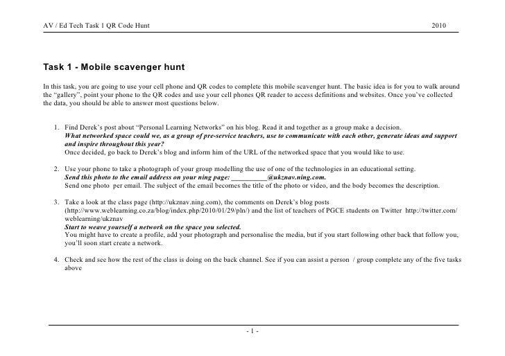 AV / Ed Tech - Mobile Scavenger Hunt                                                                                      ...