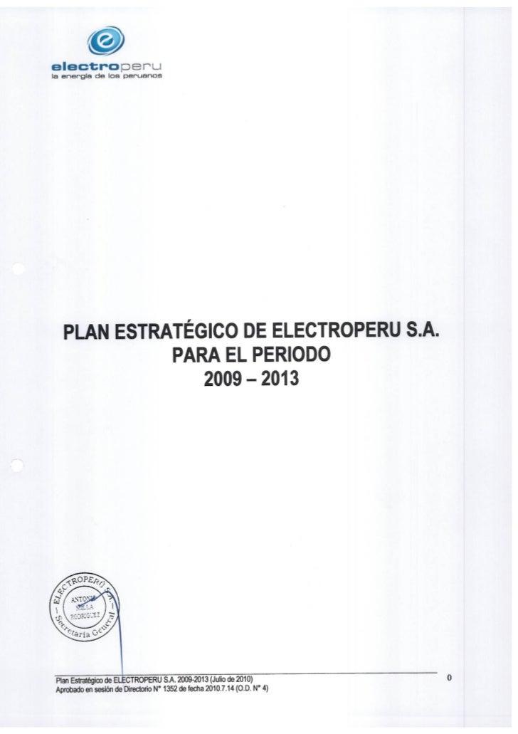 Ejemplo plan estrategico electroperú