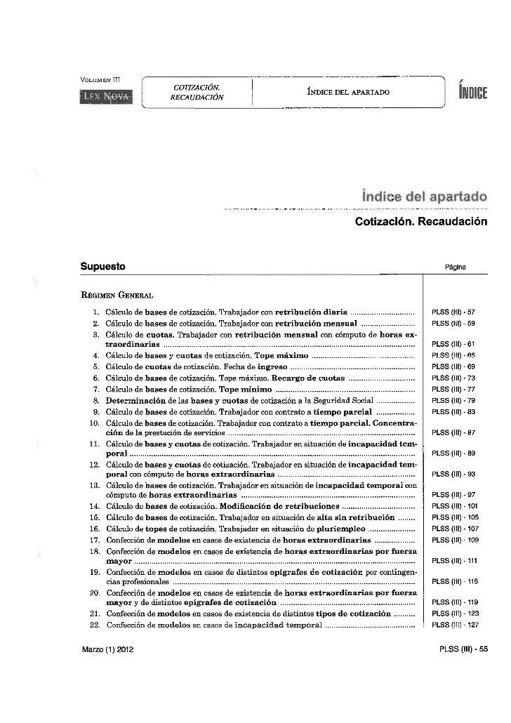 3. Cotización...practica laboral y ss. vol.3 pp.55 191