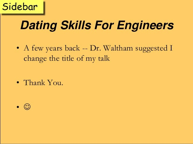 engineers dating The engineer of record is the registered professional engineer of the state of missouri responsible for signing, sealing and dating all submitted contract plans, job special provisions, standard plans and specifications.