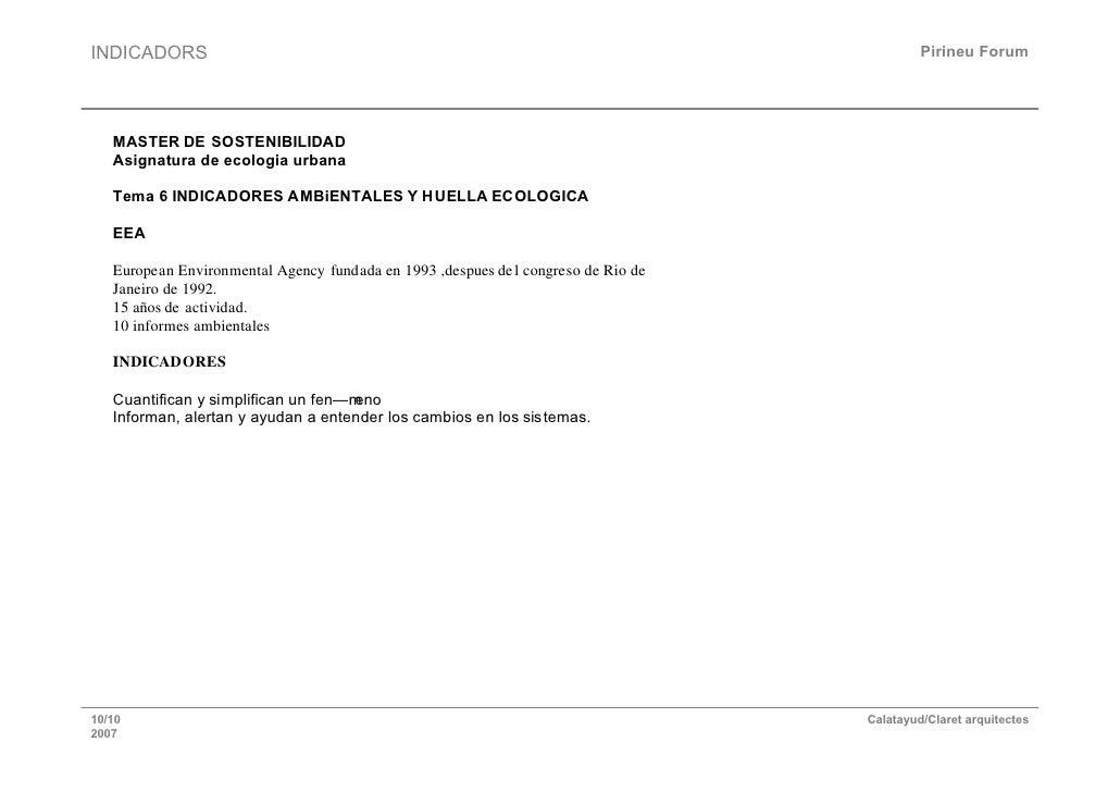 INDICADORS                                                                                   Pirineu Forum        MASTER D...