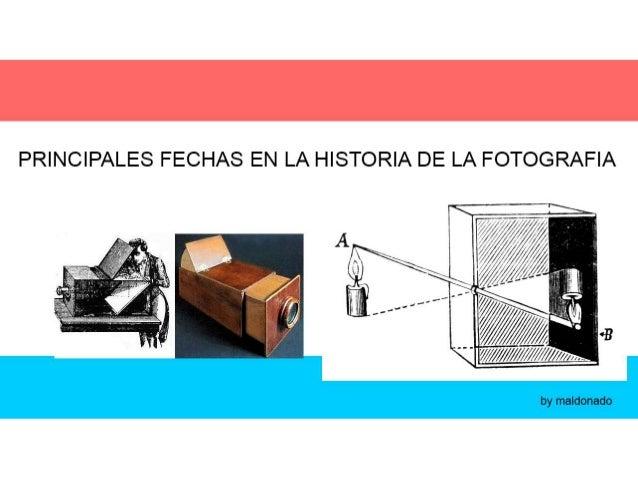 2- FECHAS IMPORTANTES EN FOTOGRAFIA