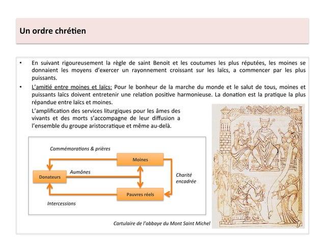 Un ordre chré3en • En  suivant  rigoureusement  la  règle  de  saint  Benoit  et  les  coutumes...