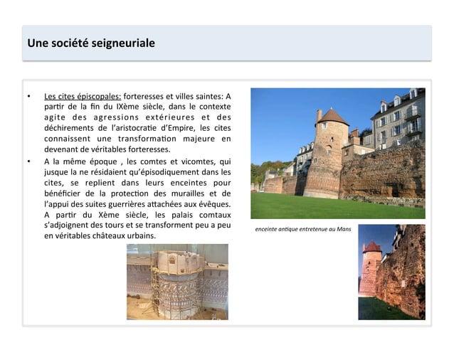 Une société seigneuriale • Les cites épiscopales: forteresses et villes saintes: A par;r  de  l...