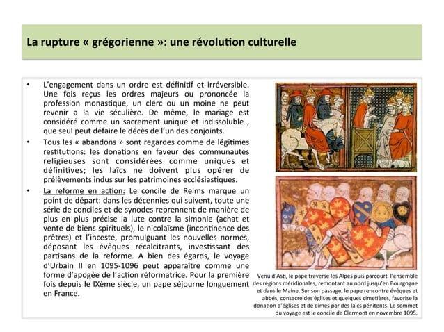 La rupture « grégorienne »: une révolu3on culturelle • L'engagement  dans  un  ordre  est  défin...