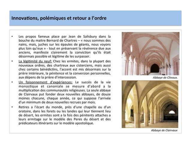 Innova3ons, polémiques et retour a l'ordre • Les  propos  fameux  place  par  Jean  de  Salisbu...