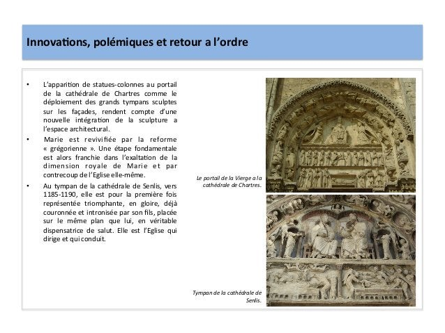 Innova3ons, polémiques et retour a l'ordre • L'appari;on  de  statues-‐colonnes  au  portail de ...