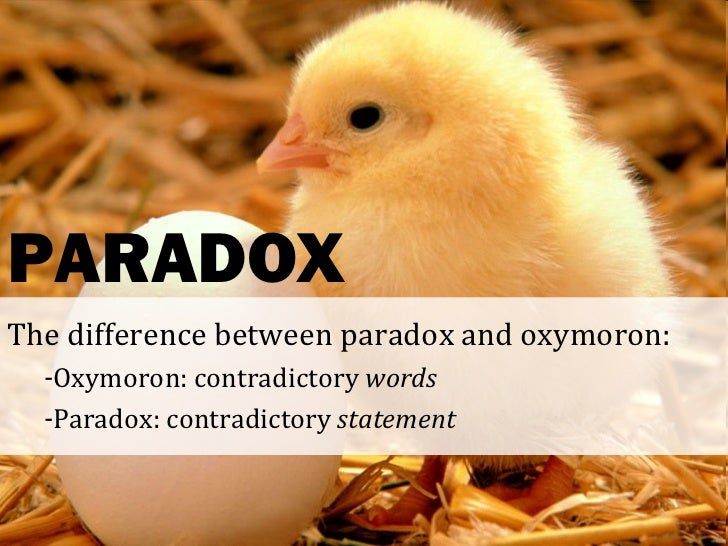 Difference between antithesis oxymoron paradox