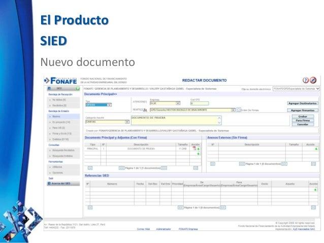 El Producto SIED Nuevo documento