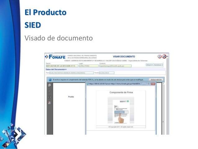 El Producto SIED Visado de documento
