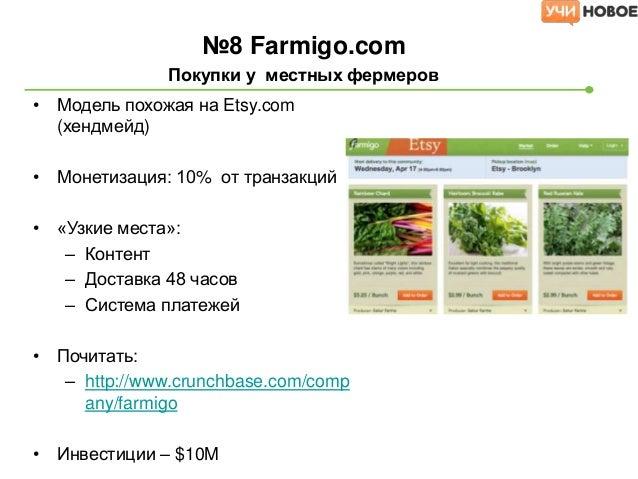 №9 Allmenus.com                           меню всех ресторанов•   Интеграция с OpenTable.com•   Сюда же https://locu.com (...