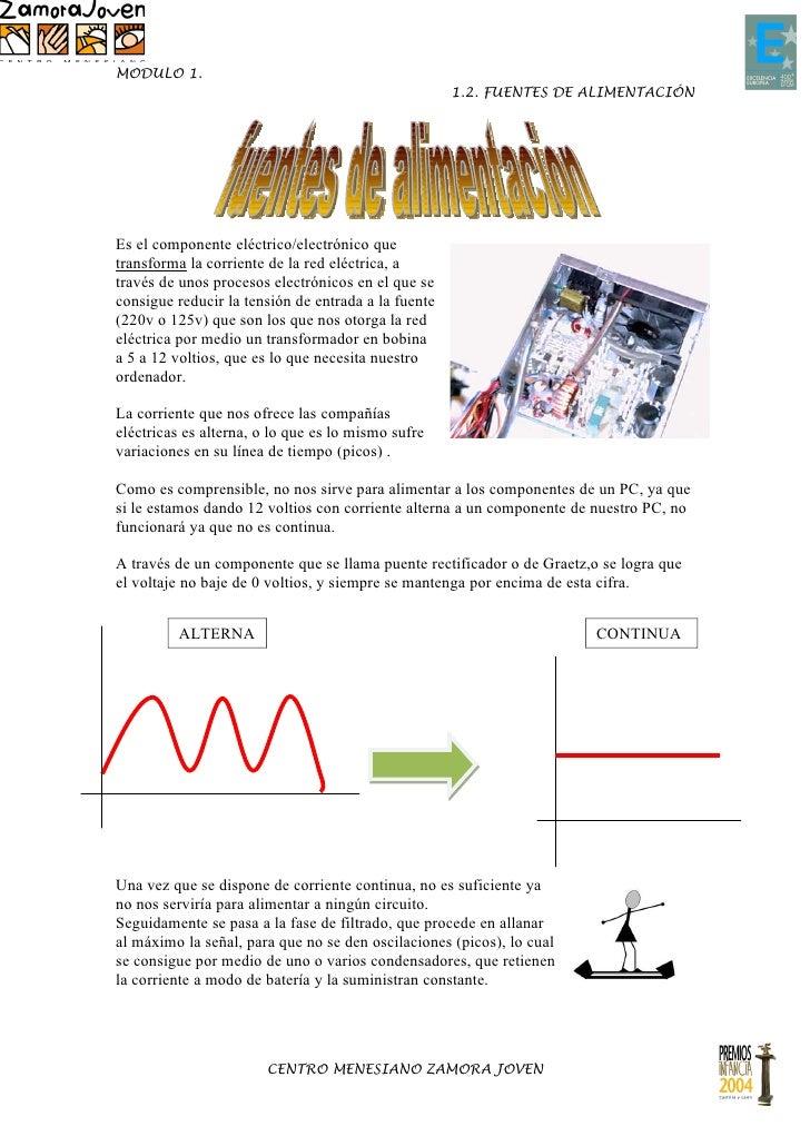 MODULO 1.                                                     1.2. FUENTES DE ALIMENTACIÓNEs el componente eléctrico/elect...
