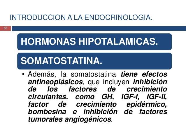 INTRODUCCION A LA ENDOCRINOLOGIA.HORMONAS HIPOTALAMICAS.SOMATOSTATINA.• Uno de los principales efectossecundarios de octre...