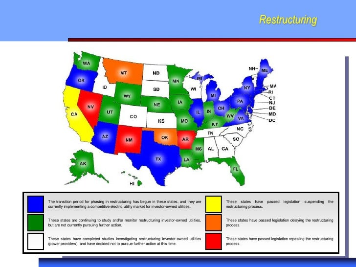 RestructuringThe transition period for phasing in restructuring has begun in these states, and they are    These states ha...
