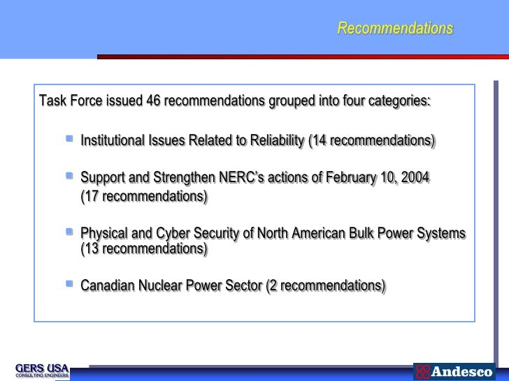 RecommendationsTask Force issued 46 recommendations grouped into four categories:       Institutional Issues Related to R...