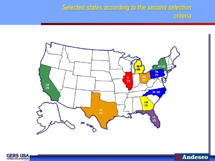 Selected states according to the second selection                                          criteria