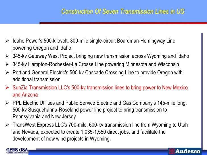 Construction Of Seven Transmission Lines in US Idaho Powers 500-kilovolt, 300-mile single-circuit Boardman-Hemingway Line...