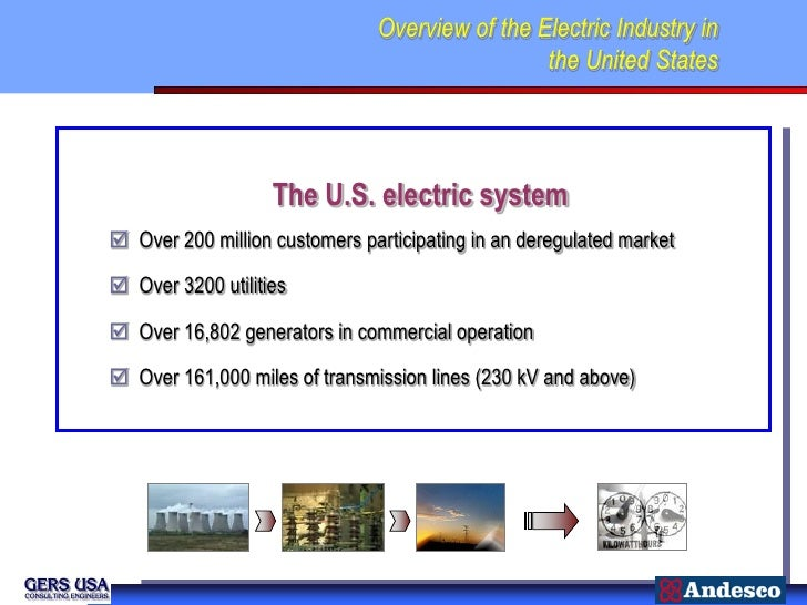 Overview of the Electric Industry in                                                the United States                   Th...