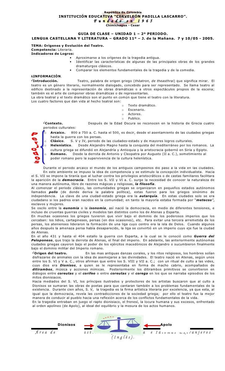 """República de Colombia                 INSTITUCIÓN EDUCATIVA """"CERVELEÓN PADILLA LASCARRO"""".                                 ..."""