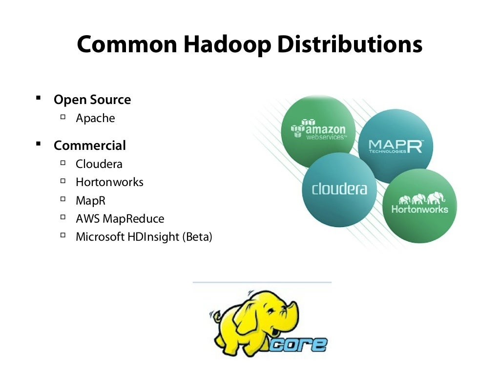 A View of Hadoop (from