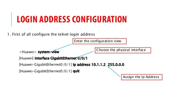 Huawei AR G3 Router HOW-TO: Telnet Access