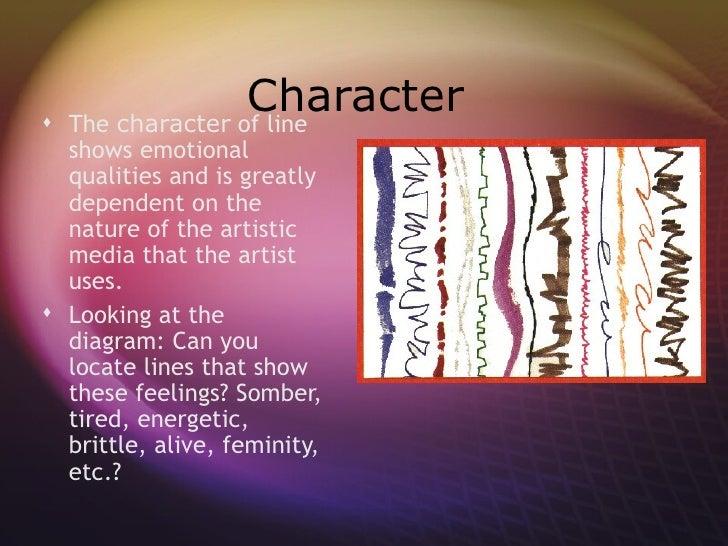 Emotional Lines In Art : Art elements