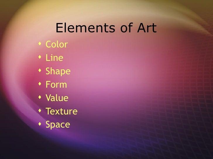 8 Art Elements : Art elements