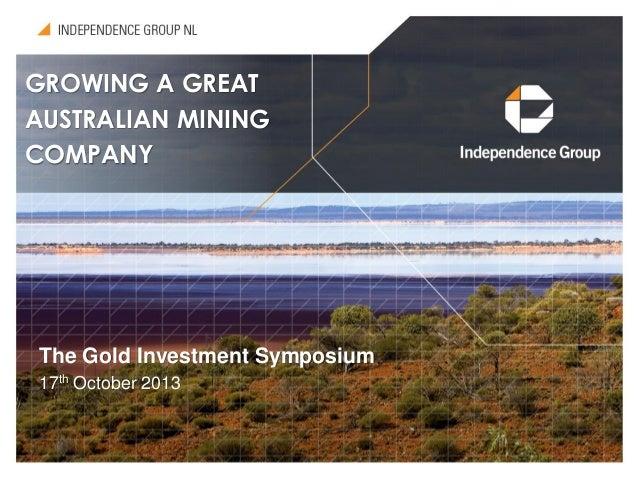 Igo Australia Map 2013.Gold 2013 Sydney Independence Group Asx Igo