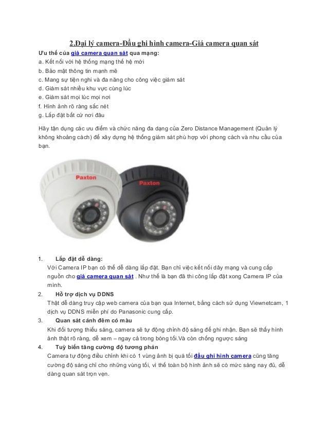 2.Đại lý camera-Đầu ghi hình camera-Giá camera quan sátƯu thế của giá camera quan sát qua mạng:a. Kết nối với hệ thống mạn...