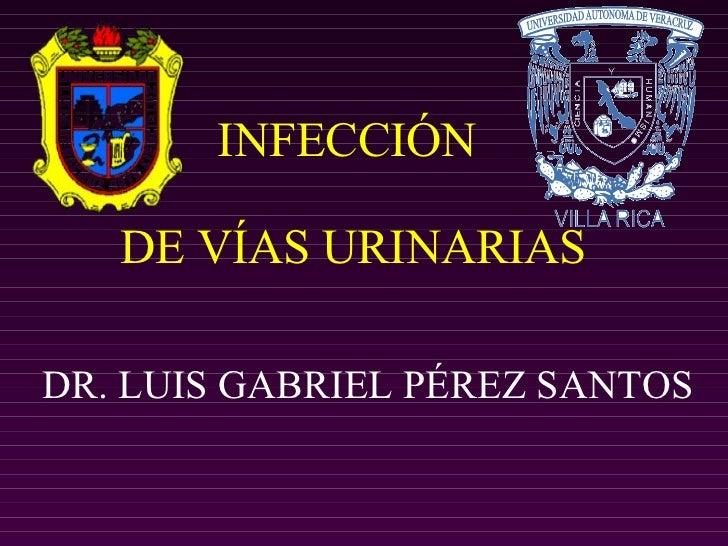 INFECCIÓN  DE VÍAS URINARIAS DR. LUIS GABRIEL PÉREZ SANTOS