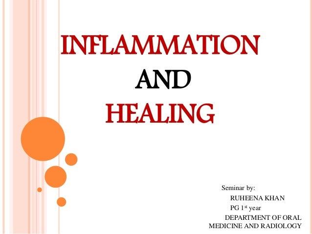 INFLAMMATION AND HEALING Seminar by: RUHEENA KHAN PG 1st year DEPARTMENT OF ORAL MEDICINE AND RADIOLOGY