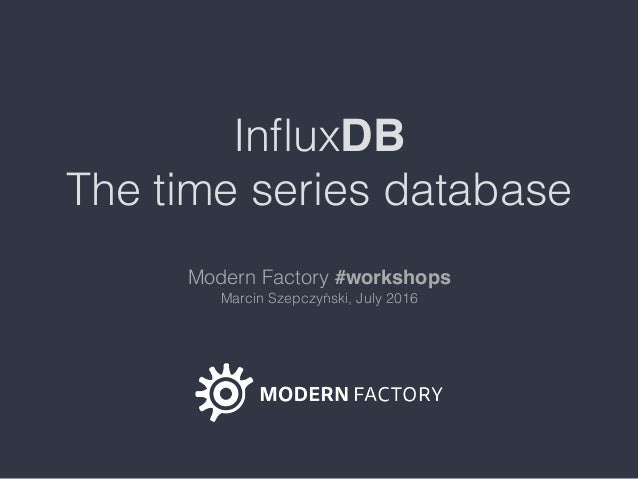 Influxdb and time series data