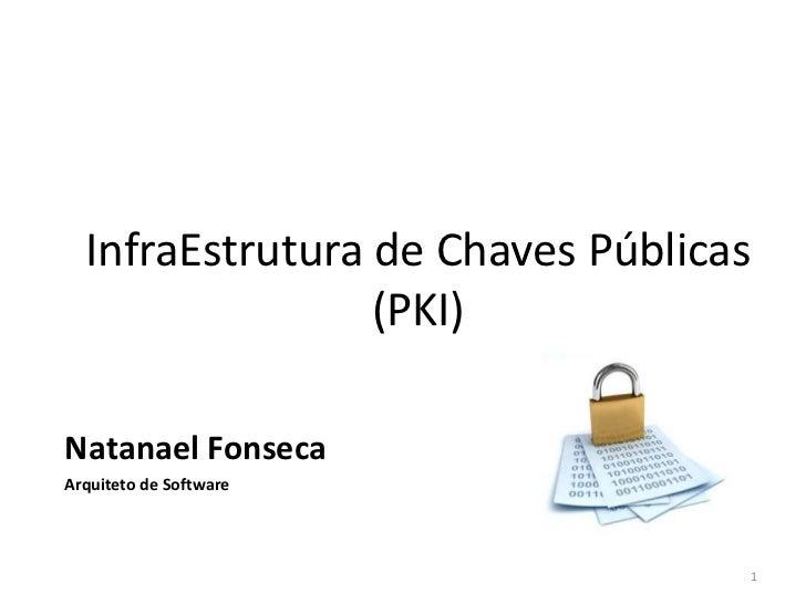 InfraEstrutura de Chaves Públicas                 (PKI)Natanael FonsecaArquiteto de Software                              ...