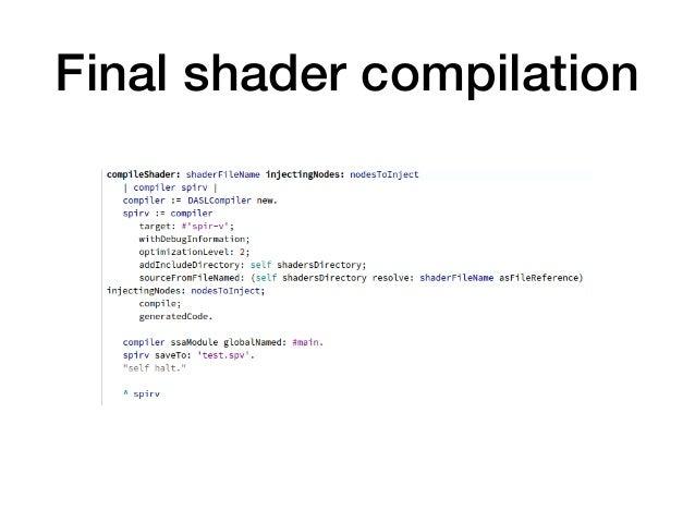 Final shader compilation