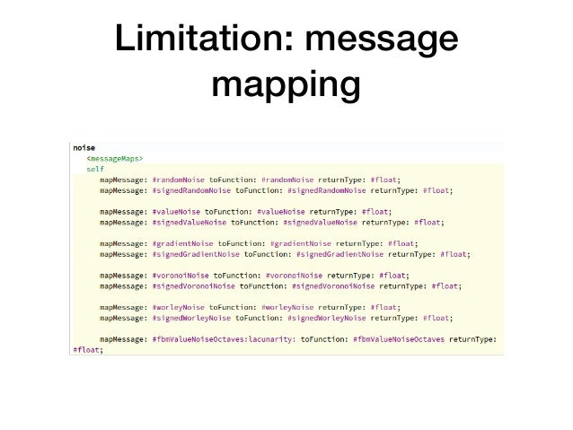 Limitation: message mapping