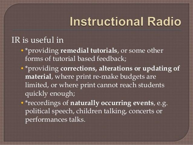 instructional radio Instructional modes  instructional radio and television  national open university of nigeria university village plot 91, cadastral zone.