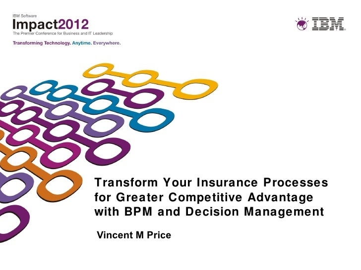 Transform Your Insurance Processesfor Greater Competitive Advantagewith BPM and Decision ManagementVincent M Price