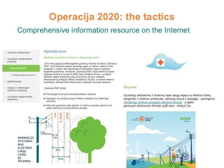 Operacija 2020: the tactics Comprehensive information resource on the Internet
